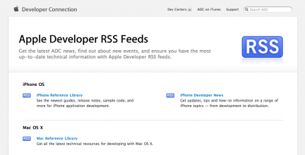 RSS iPhone Developer News