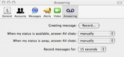 answering ichat