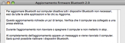 aggiornamento apple bluetooth 20