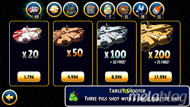 Acquisti in-app, Angry Birds Star Wars 2