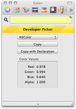 Developer Color Picker