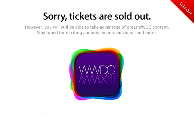 WWDC 2013: sold out
