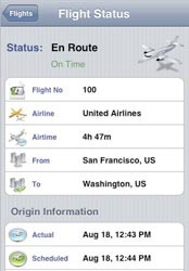 Flight Status Screenshot