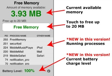 Free Memory per iPhone e iPod touch
