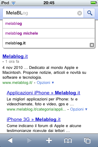 google instant android iphone ricerche veloci