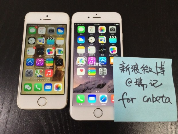 iPhone 6 da 4,7 pollici mostrato in foto e video