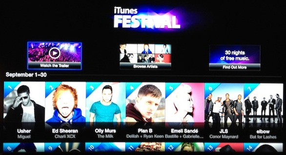 itunes festival 2012 appletv