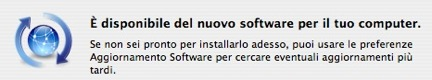 Aggiornamento software per MacBook e MacBook Pro