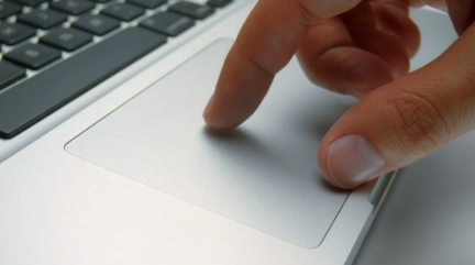 Multi-touch trackpad rotating. Image by Apple Inc.