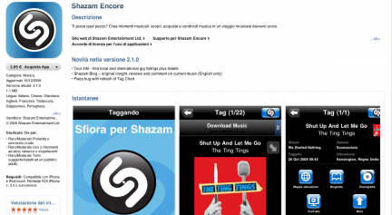 nuovo layout per app store