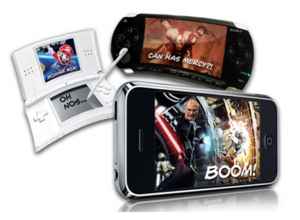 Nintendo DS, Sony PSP ed iPod Touch