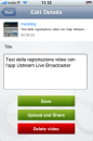 Ustream Live Broadcaster per iPhone