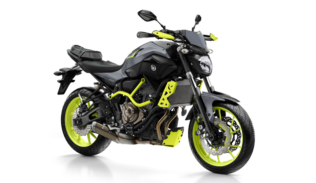 yamaha mt 07 moto cage in night fluo. Black Bedroom Furniture Sets. Home Design Ideas