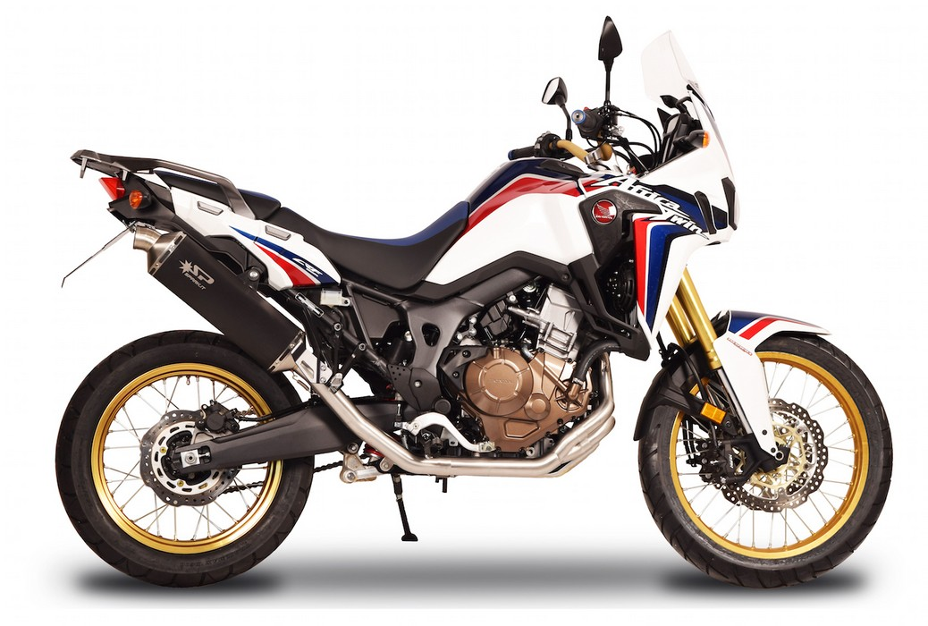 terminale e kit completo spark per africa twin 2016. Black Bedroom Furniture Sets. Home Design Ideas