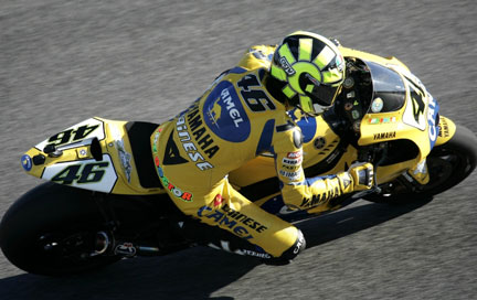 Rossi in pole portogallo 2006