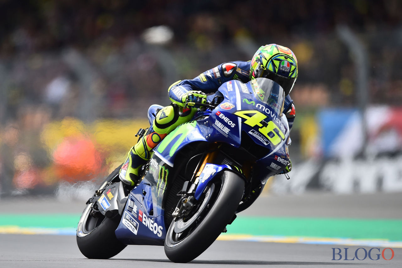 Italy's rider Valentino Rossi competes on his Movistar Yamaha MOTOGP N°46 to place second on the starting grid during the MotoGP qualifying practice session ahead of the French Motorcycle Grand Prix, on May 20, 2017 in Le Mans, northwestern France.  / AFP PHOTO / JEAN-FRANCOIS MONIER        (Photo credit should read JEAN-FRANCOIS MONIER/AFP/Getty Images)