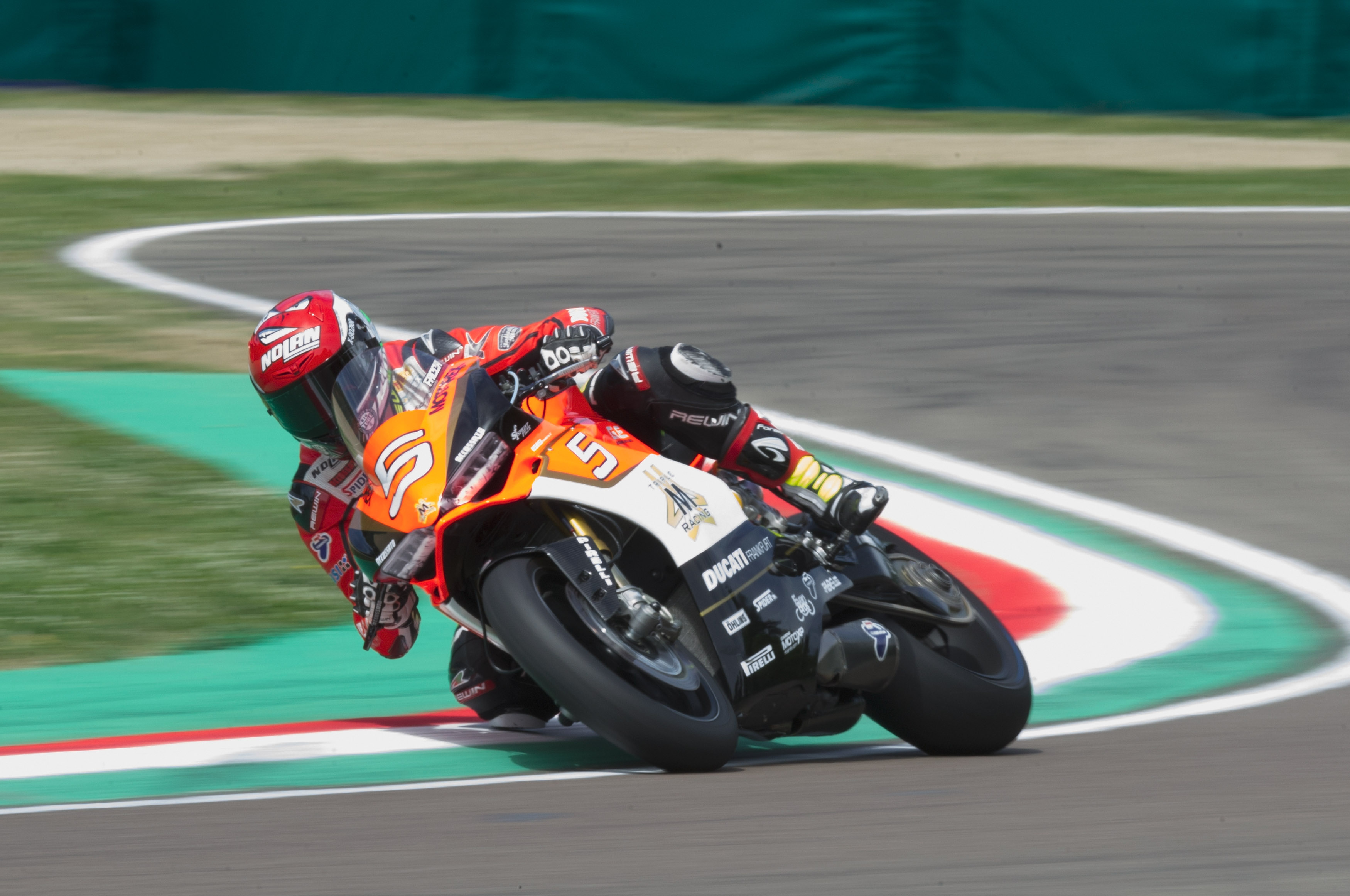 IMOLA, ITALY - APRIL 30: Marco Faccani of Italy and Triple M Racing rounds the bend during the World Superbikes - Qualifying at Enzo & Dino Ferrari Circuit on April 30, 2016 in Imola, Italy.  (Photo by Mirco Lazzari gp/Getty Images)