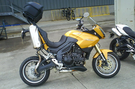 Triumph Tiger incidente