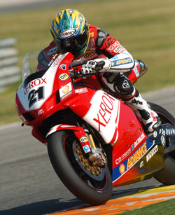 Troy Bayliss a Valencia