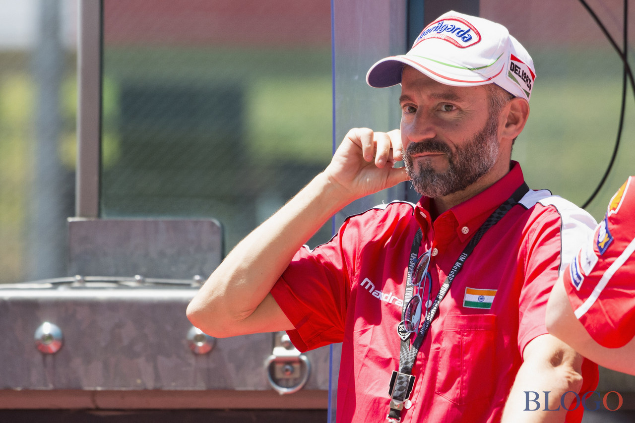 SCARPERIA, ITALY - JUNE 03:  Max Biaggi of Italy looks on in pit wall during the MotoGp of Italy - Qualifying at Mugello Circuit on June 3, 2017 in Scarperia, Italy.  (Photo by Mirco Lazzari gp/Getty Images)