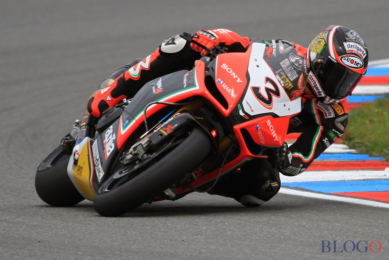 Max Biaggi of Italy rides during the first session Superpole at the eni FIM Superbike World Championship qualifying practises on July 21, 2012 in Brno, Czech Republic. Tom Sykes of Great Britain came in first, followed by Carlos Checa of Spain with Eugene Laverty of Ireland coming in third. AFP PHOTO/ RADEK MICA            (Photo credit should read RADEK MICA/AFP/GettyImages)