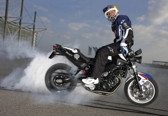Chris Pfeiffer su BMW F 800 R