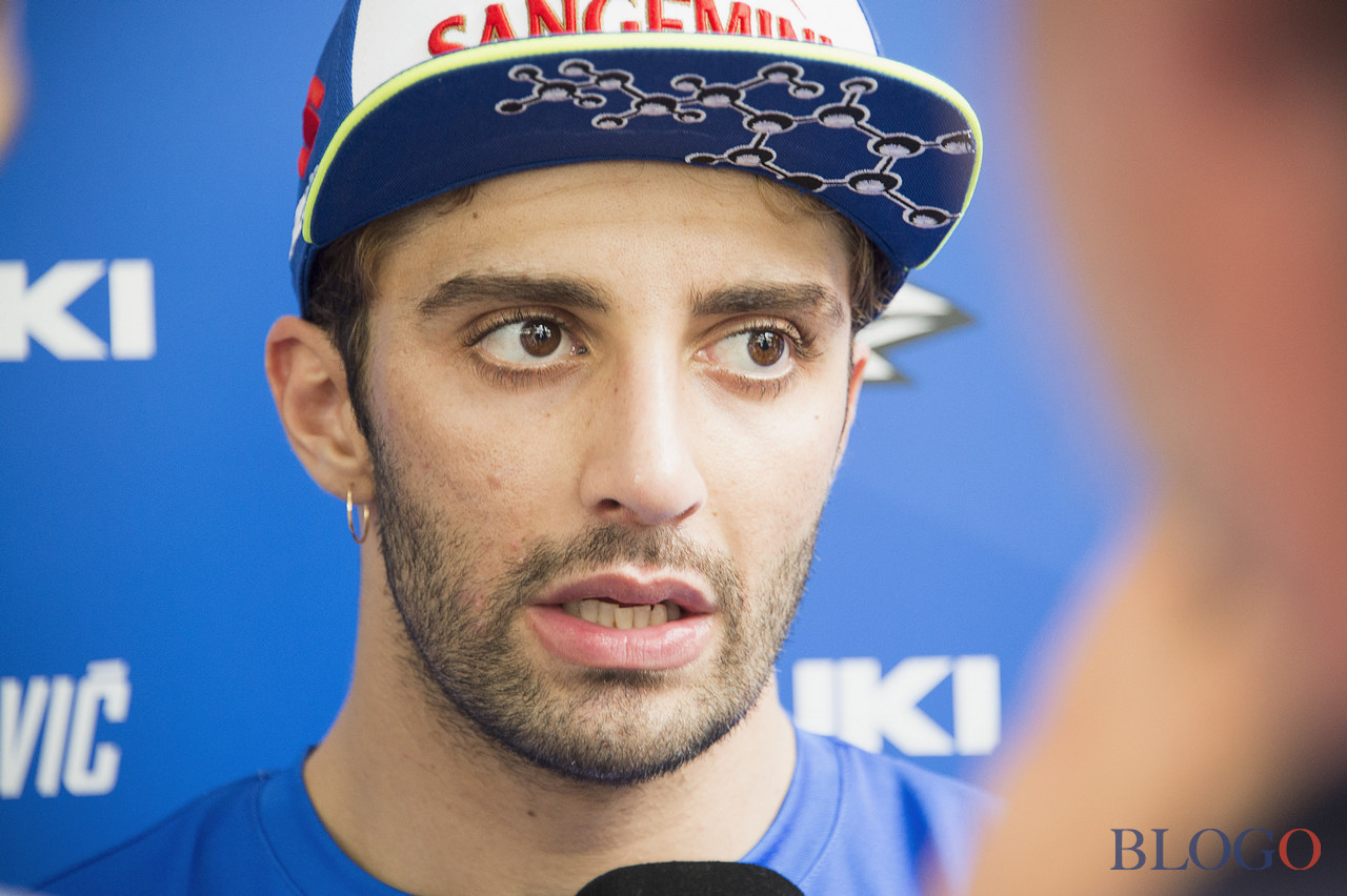 KUALA LUMPUR, MALAYSIA - FEBRUARY 01:  Andrea Iannone of Italy and Team Suzuki ECSTAR speaks with journalists during the MotoGP Tests In Sepang at Sepang Circuit on February 1, 2017 in Kuala Lumpur, Malaysia.  (Photo by Mirco Lazzari gp/Getty Images)