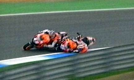 Pedrosa stende Hayden all'Estoril l'anno scorso