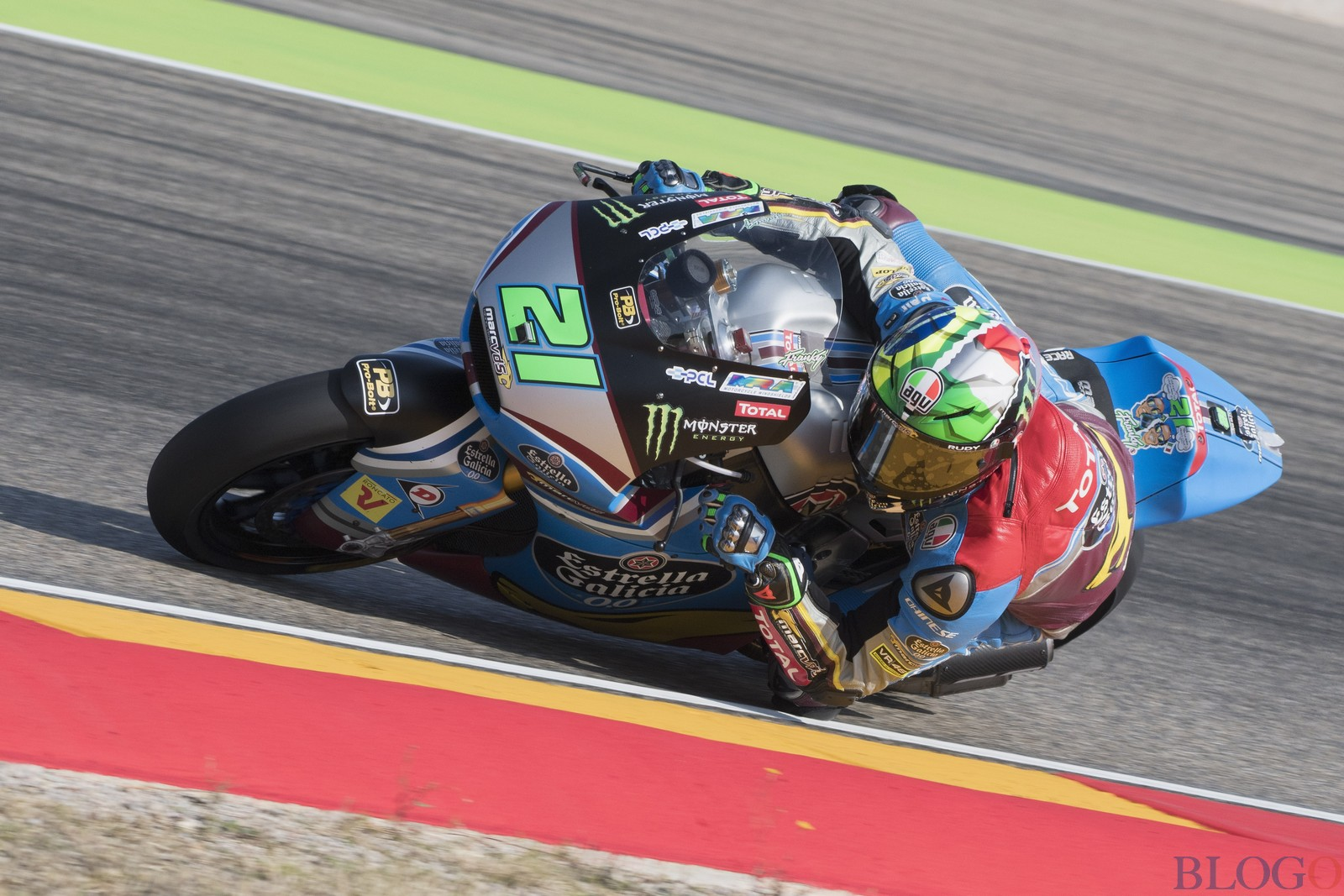 ALCANIZ, SPAIN - SEPTEMBER 23:  Franco Morbidelli of Italy and EG 00 Marc VDS rounds the bend during the qualifying practice during the MotoGP of Aragon - Qualifying at Motorland Aragon Circuit on September 23, 2017 in Alcaniz, Spain.  (Photo by Mirco Lazzari gp/Getty Images)