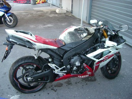 R1 burned in Monza track