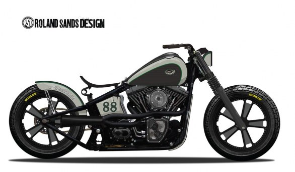 Roland Sands Blackline Dirt Tracker, disegno