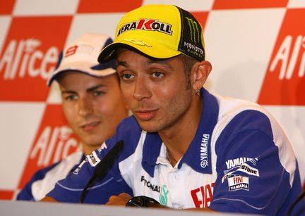 Rossi in conferenza stampa