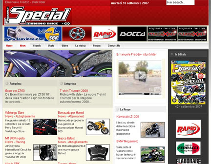 homepage di Special