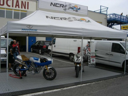 Stand NCR al Metzeler Day di Vallelunga