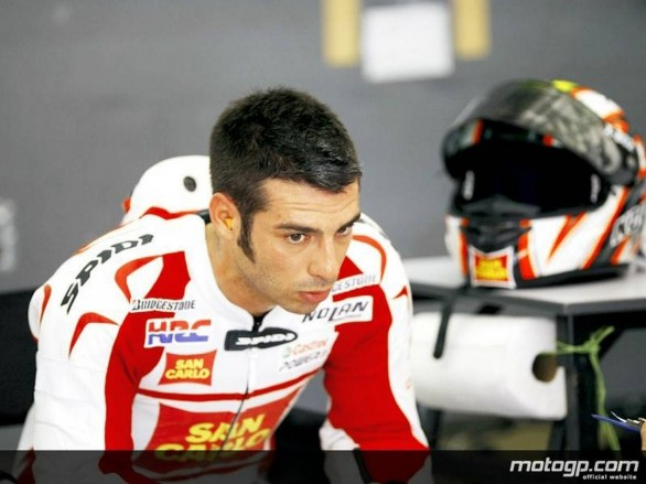 Team Gresini test Losail