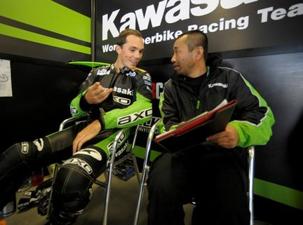 Chris Vermeulen nei box Kawasaki