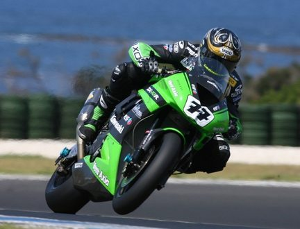 Chris Vermeulen in pista a Phillip Island