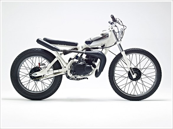 Yamaha DT50MX 'Cocaine White' by H�¥kan Persson