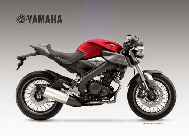 yamaha mt 125 cr by oberdan bezzi. Black Bedroom Furniture Sets. Home Design Ideas