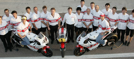 Yamaha in bianco e rosso